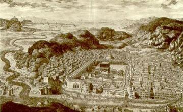 جغرافیای شهر مکه در سال 61 هجری