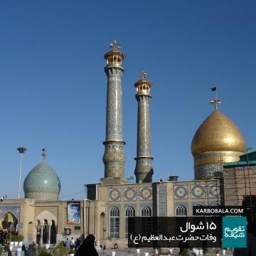 15 شوال / وفات حضرت عبدالعظیم (ع)