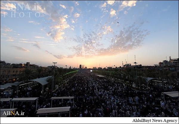 لحظه غروب آفتاب از بین الحرمین در روز عرفه/ تصاویر