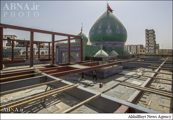 آغاز طرح مسقف کردن خیمهگاه حسینی/ گالری تصاویر
