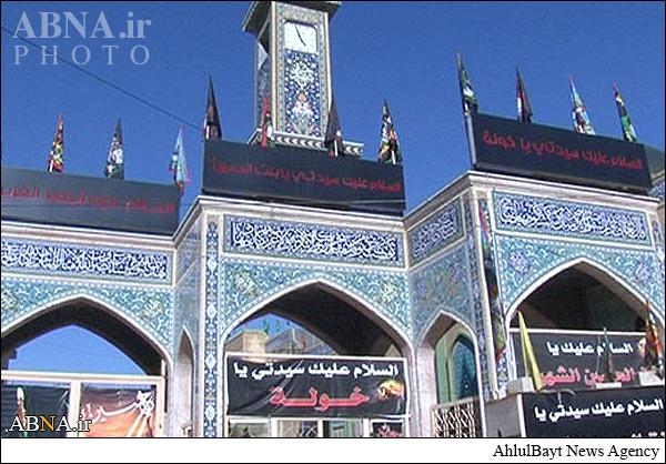 حرم دختر خردسال امام حسین(ع) در بعلبک سیاهپوش شد/ تصاویر