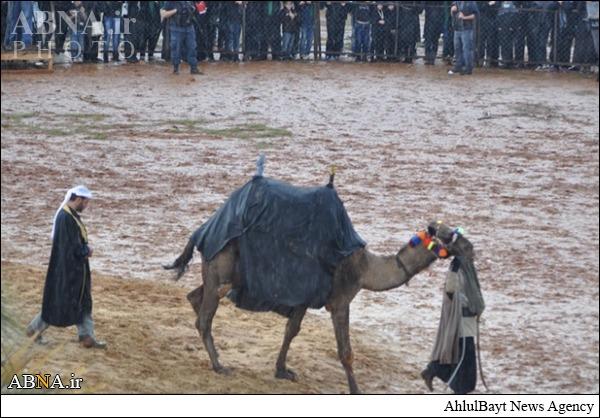 مراسم مقتل خوانی در هوای بارانی نبطیه/ عکس