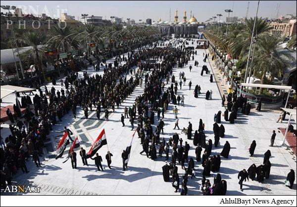 تشییع پیکر رزمندگان یگان العباس(ع) در کربلا/ عکس