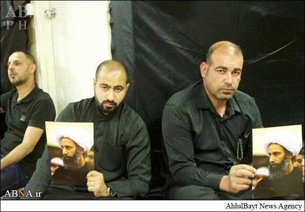 همبستگی با شیخ نمر در مراسم عزای حسینی/ عکس