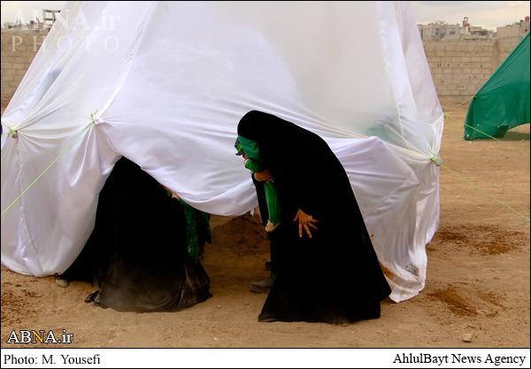 تعزیهخوانی اسرای شام در منظقه زینبیه/ عکس