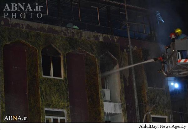 آتش سوزی در هتل زائران ایرانی در کربلا و جان باختن دو زائر