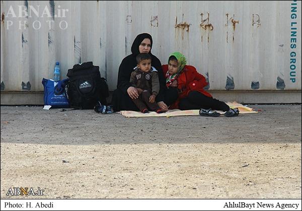 تجمع زائران در مرز شلمچه/ عکس