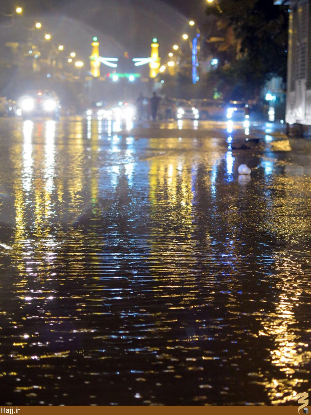بارش شدید باران در کربلا