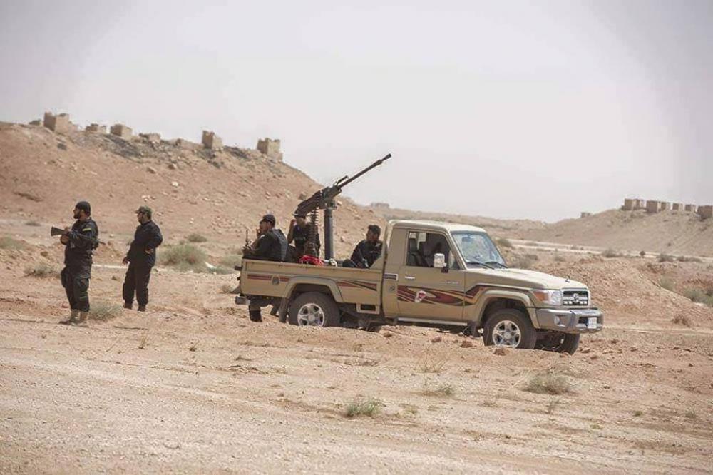 ورود نیروهای یگان رزمی العباس علیه السلام به استان الانبار و اعلام حالت فوق العاده