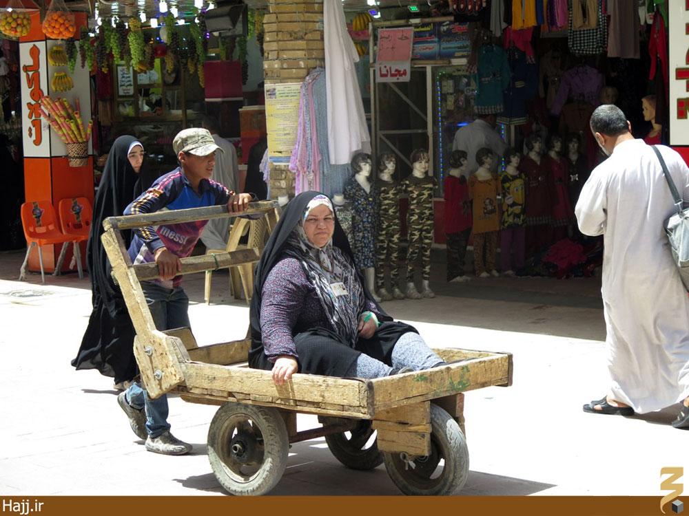 گاریهای سه چرخ٬ و خیابانهای کربلا