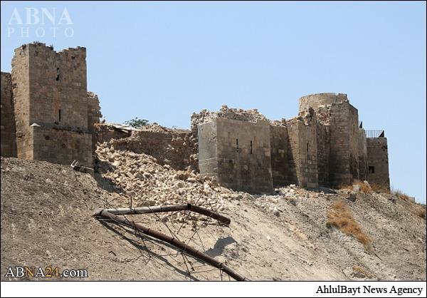 تخریب بخشی از قلعۀ باستانی حلب+تصاویر