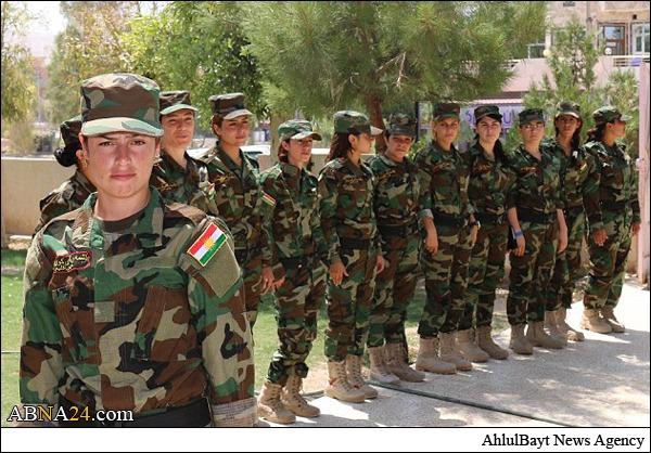 اعلام موجودیت گروه دختران خورشید با هدف مبارزه با داعش + عکس