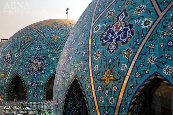 اتمام کاشیکاری بخش اعظم گنبدهای صحن حرم حضرت عباس (ع) + عکس