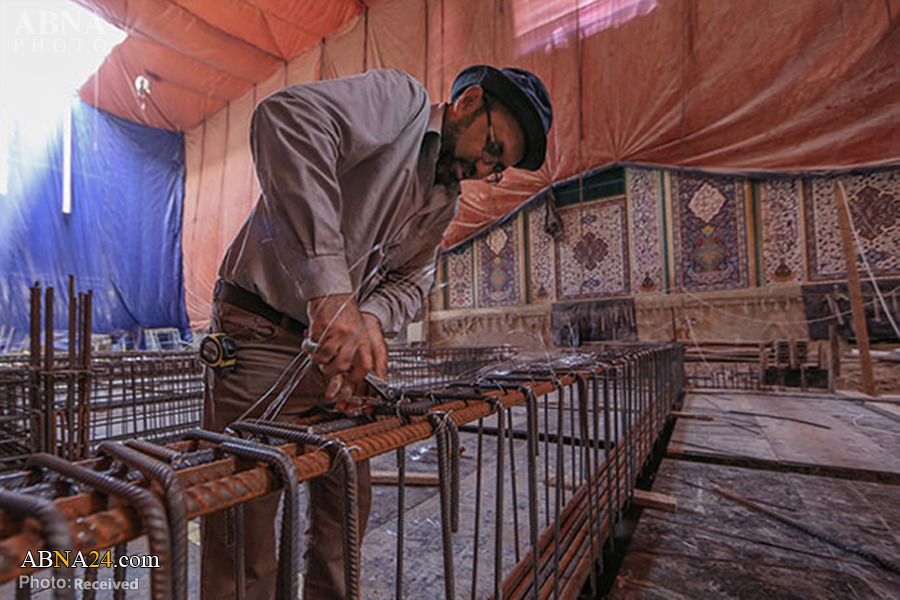 تصاویری از پروژه احداث سرداب حضرت مهدی (عج) در کربلا