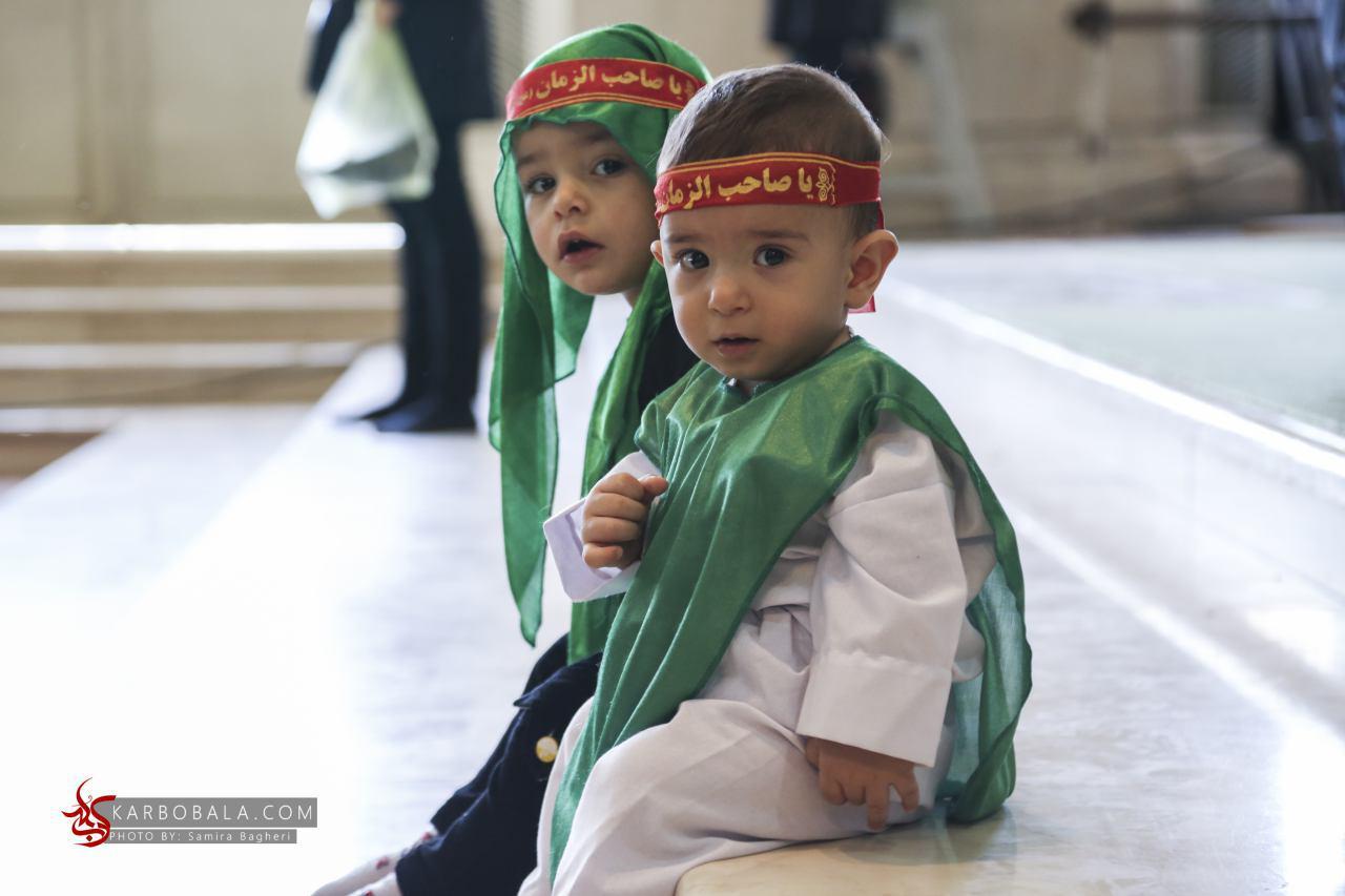تجمع شیرخوارگان حسینی با نوای لبیک یا حسین (ع) + گالری تصاویر