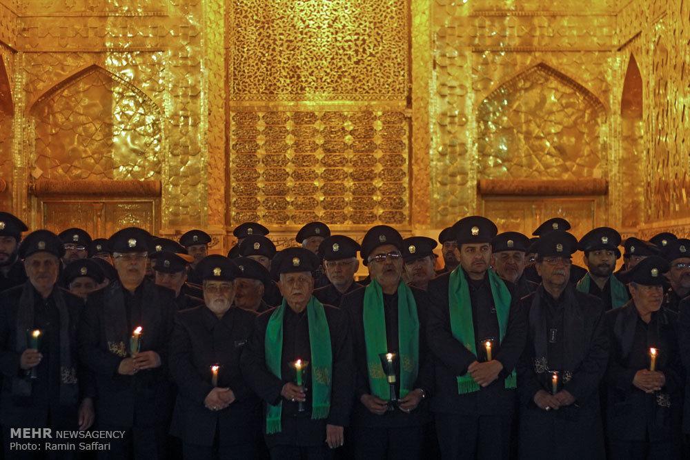 مراسم خطبه خوانی شب عاشورا در حرم مطهر رضوی/ گزارش تصویری