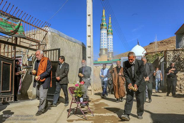 آئین سنتی مذهبی چغچغهزنی در روستای انجدان