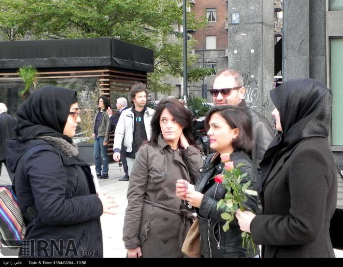آشنایی غیر مسلمانان با امام حسین (ع) در میلان ایتالیا/ گالری تصاویر