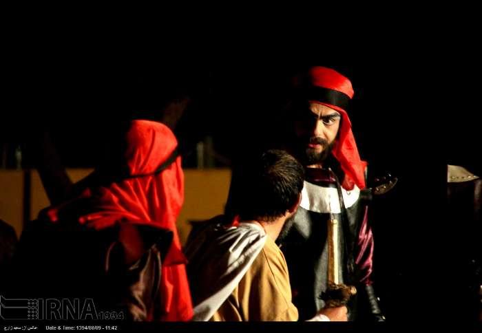 تعزیه خورشید کاروان در صحن امام زاده سید مظفر/ گالری عکس