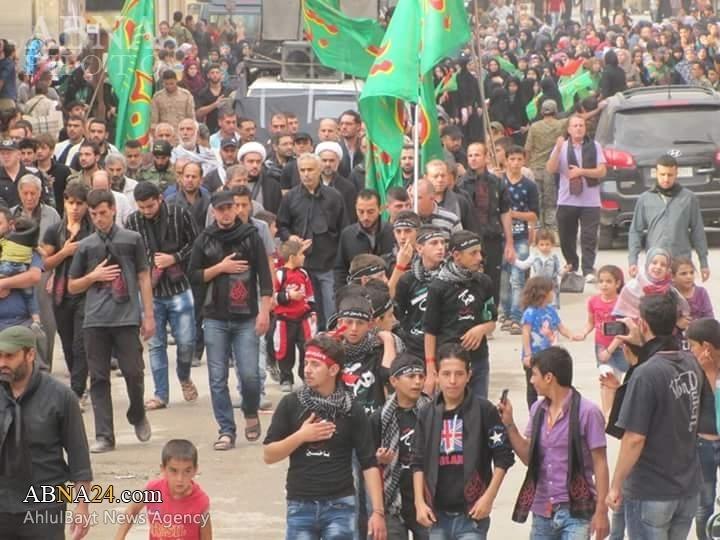 دسته عزاداری عاشورای حسینی در شهر «حمص» سوریه/ گزارش تصویری