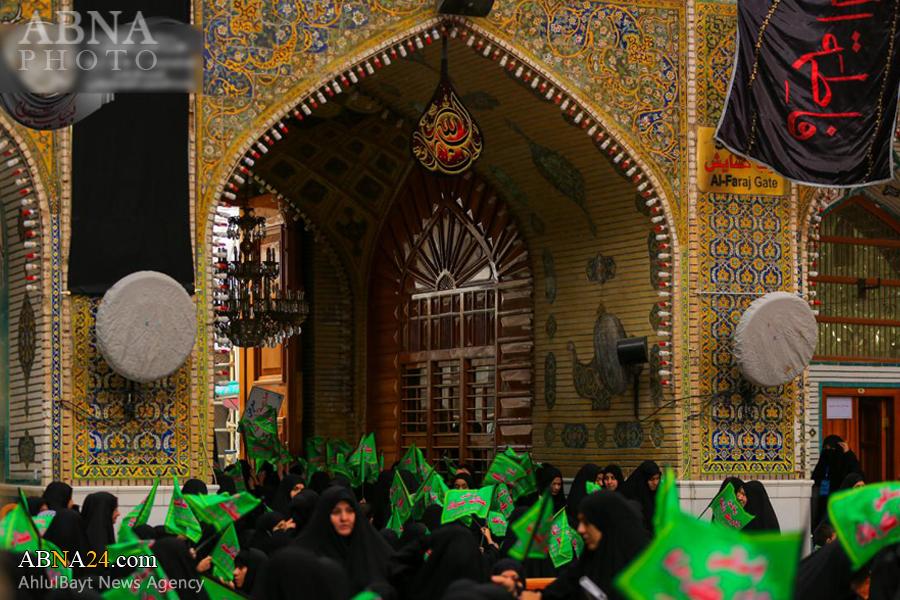 سوگواره لبیک یا رقیه(س) در حرم امیرالمومنین(ع)/ گزارش تصویری