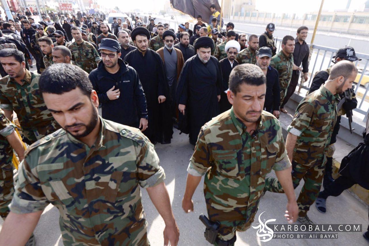 تصاویر حضور مقتدی صدر در پیاده روی اربعین