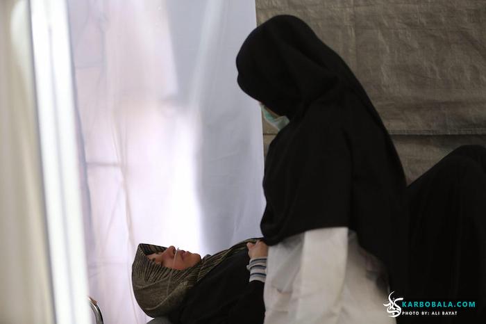 خدمت رسانی هلال احمر به زائرین حسینی/ گزارش تصویری
