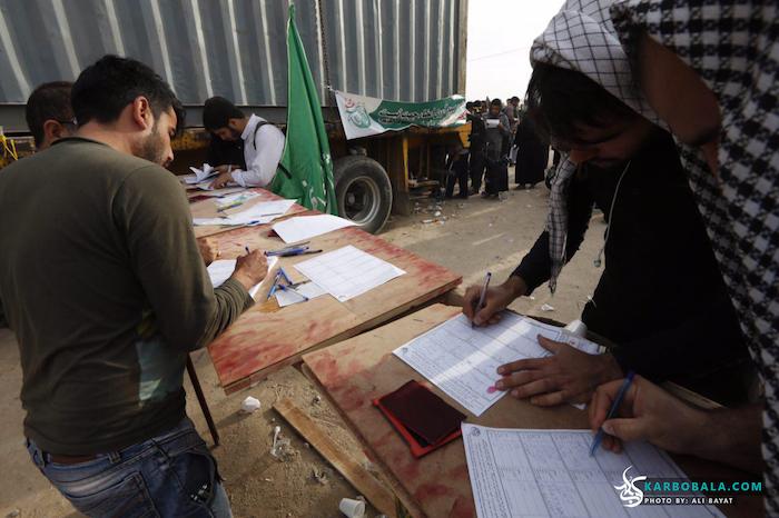 جمع آوری امضا برای ثبت جهانی واقعه عاشورا/ گزارش تصویری