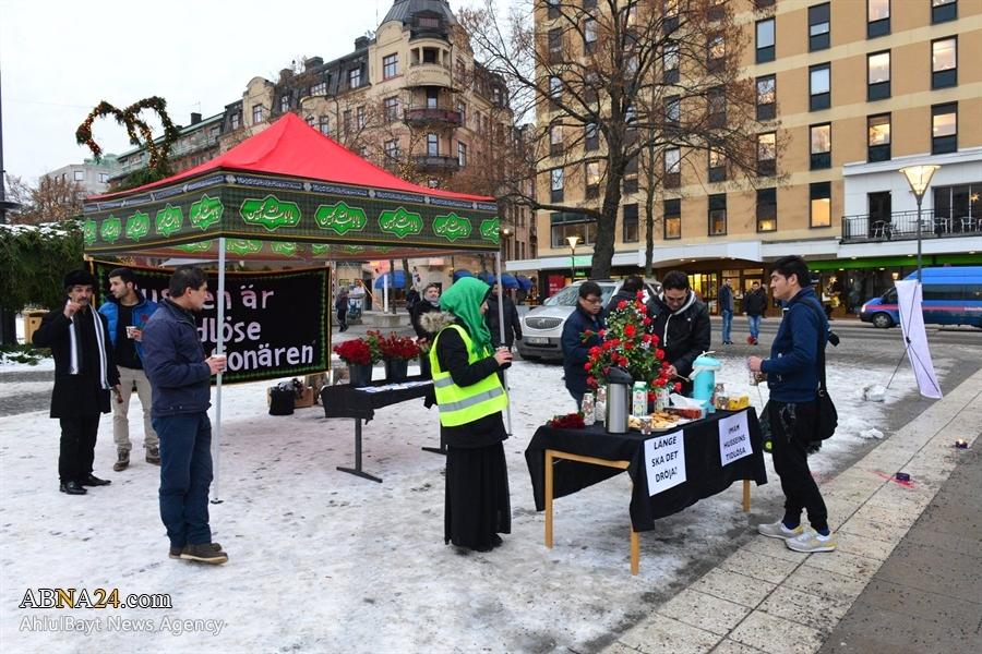 برپایی خیمه اباعبدلله الحسین (ع) در سوئد/ گزارش تصویری