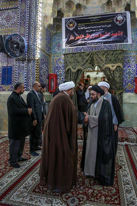 مراسم ختم شیخ نمر در حرم امام حسین (ع) + تصاویر