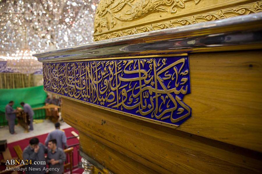 ادامه کار نصب ضریح جدید حرم حضرت عباس (ع) + گزارش تصویری