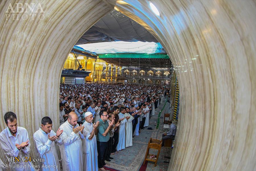 گزارش تصویری از نماز باشکوه عید سعید قربان در بین الحرمین کربلا