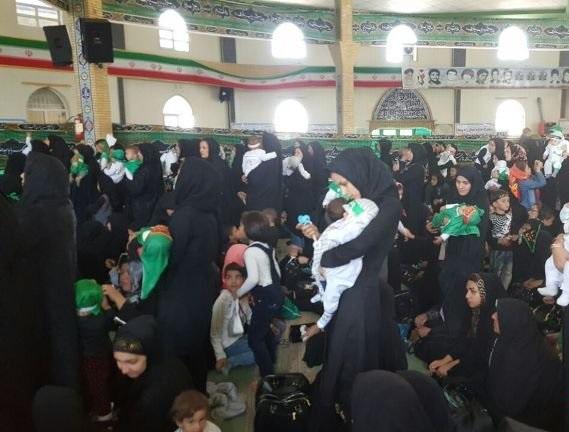 گزارش تصویری از مراسم شیرخوارگان حسینی در نقاط مختلف کشور