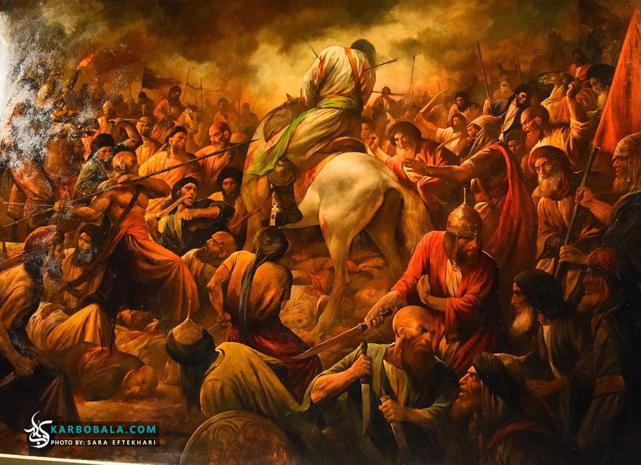 گزارش تصویری از مراسم رونمایی تابلوی نقاشی «عرش به زمین افتاد» اثر جدید حسن روح الامین