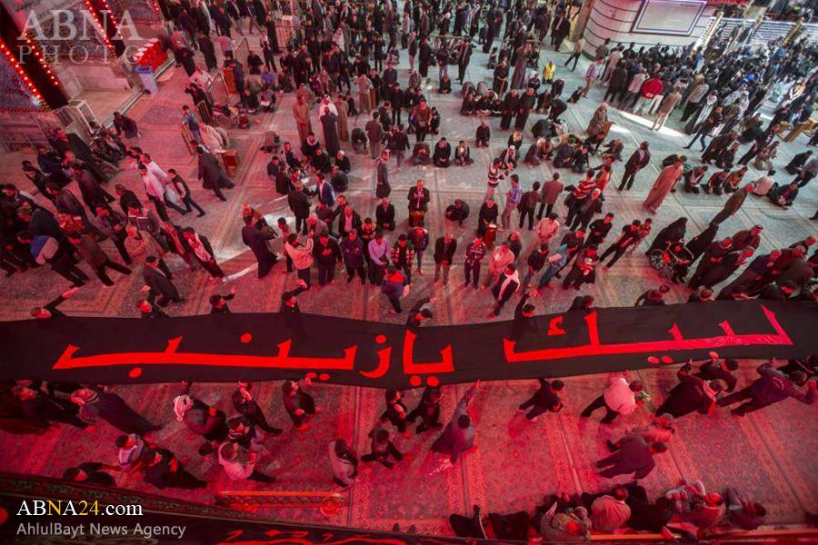 طولانیترین پرچم عزای حسینی در حرم حضرت عباس (ع) + تصاویر