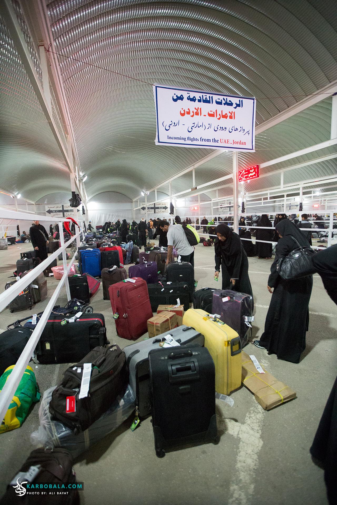 گزارش تصویری از حضور زوار در فرودگاه های ایران و نجف