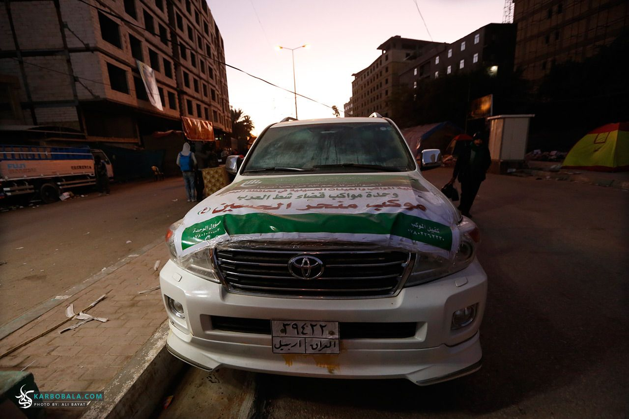 گزارش تصویری؛ موکب های بر پاشده در مسیر زائران اربعین