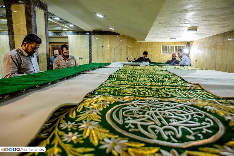 تصاویر پارچه جدید مقبره امام حسین (ع)