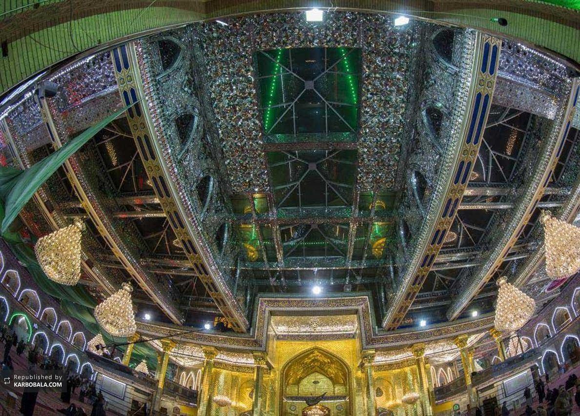 تصاویری از آخرین مرحله آینه کاری حرم حضرت اباالفضل (ع)