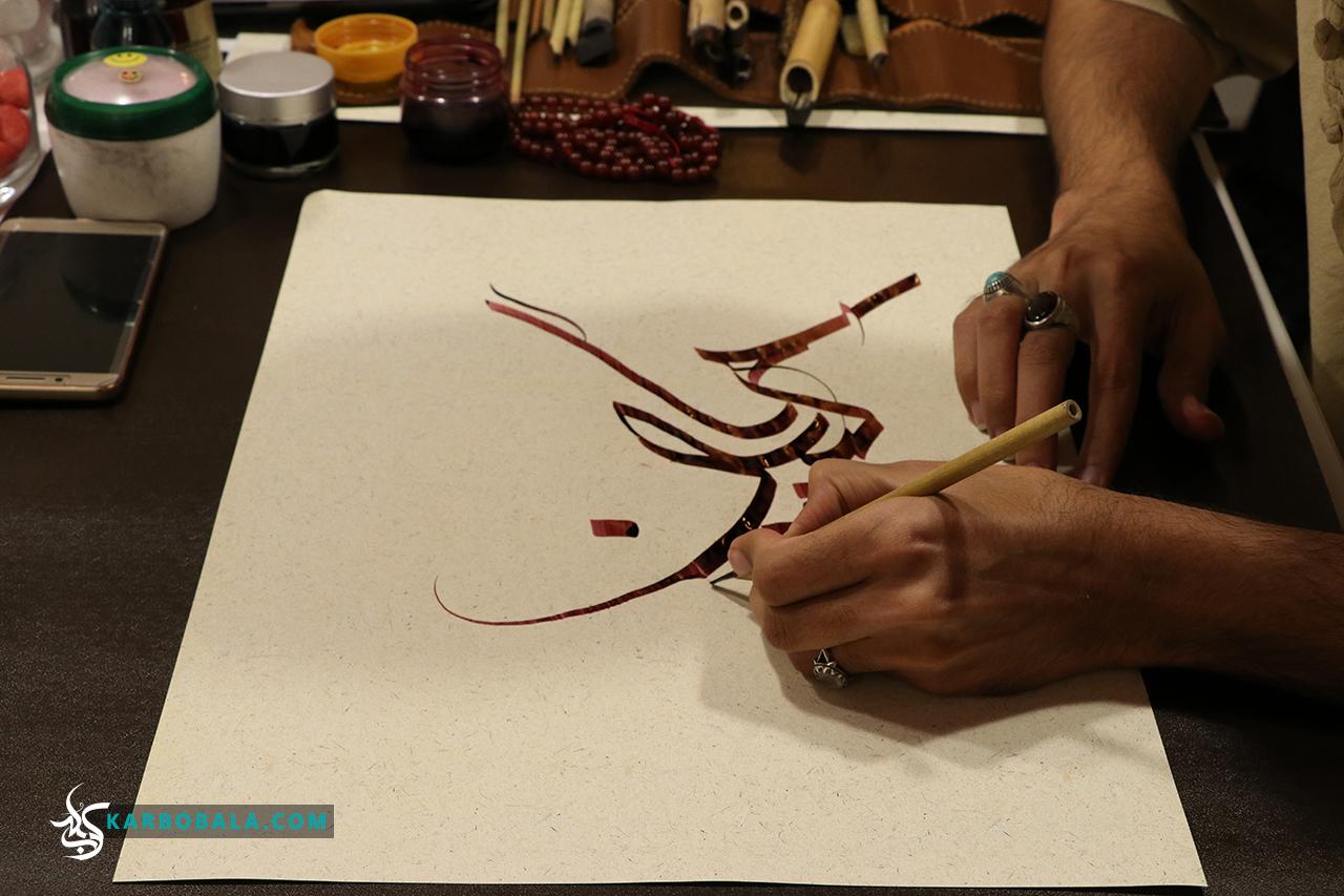 گزارش تصویری از کارگاه خط معلی و تذهیب در کانون فرهنگی زیتون