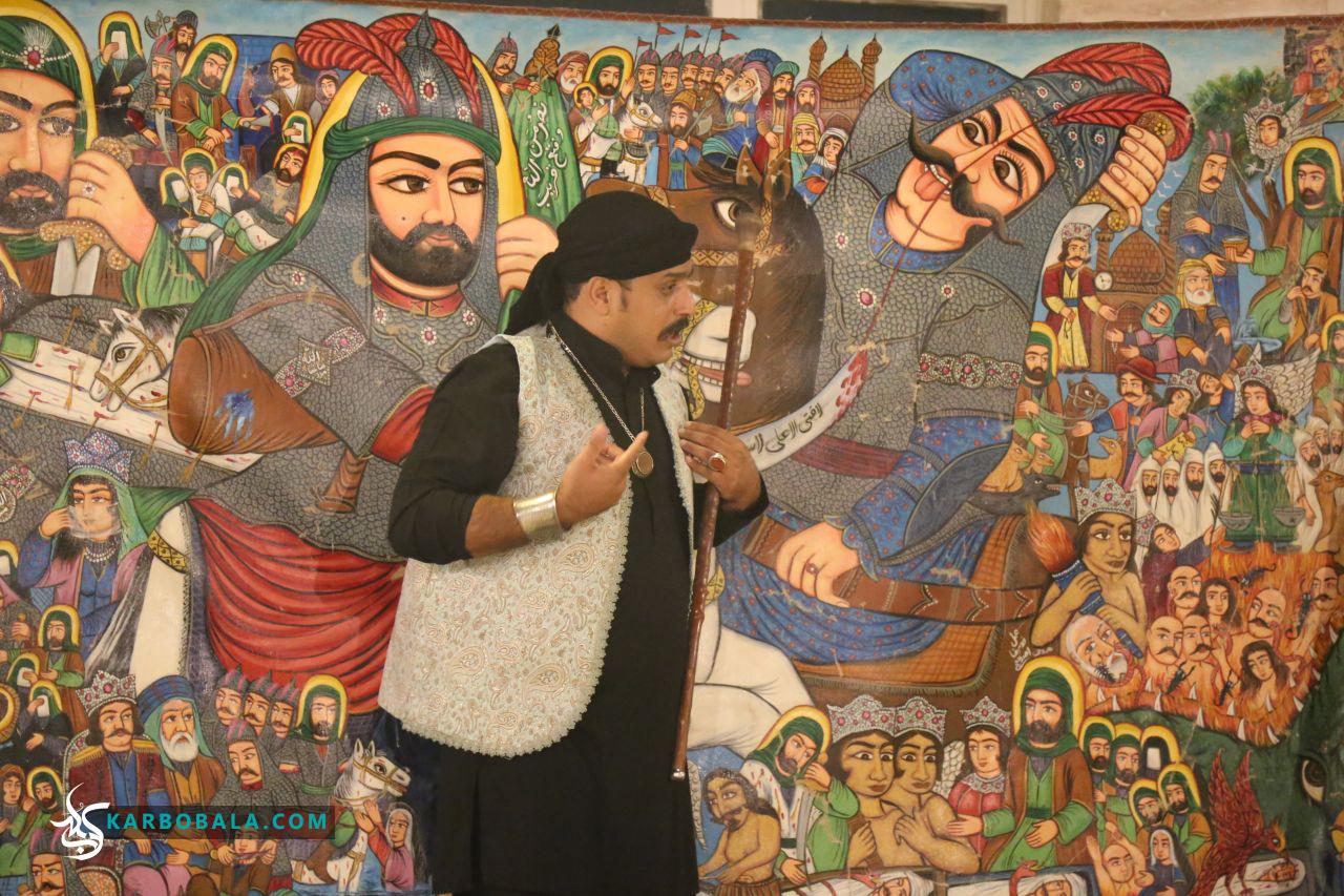 گزارش تصویری از مراسم پرده خوانی در دومین گردهمایی «مجمع دوستداران امام حسین (ع)»
