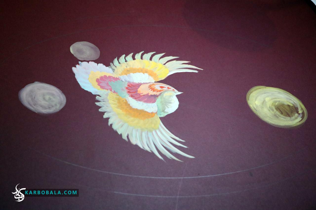 گزارش تصویری از خلق اثری که مظلومیت حضرت علی اصغر (ع) را به تصویر کشیده است