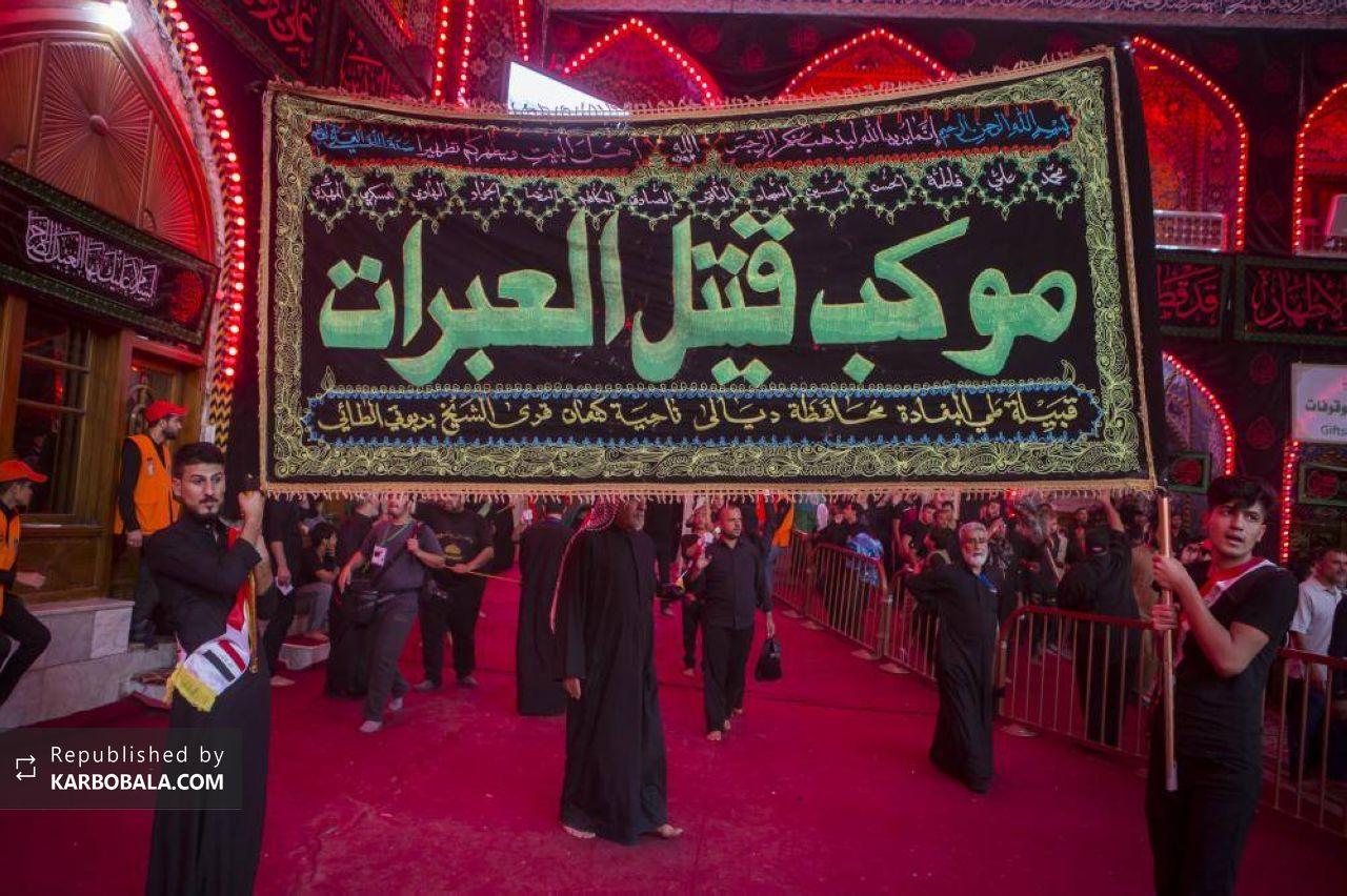 گزارش تصویری از عزادارن اربعین حسینی در بین الحرمین