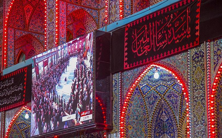 عزاداری مشترک خادمان حرم حسینی و عباسی در شهادت حضرت فاطمه (ع) + تصاویر
