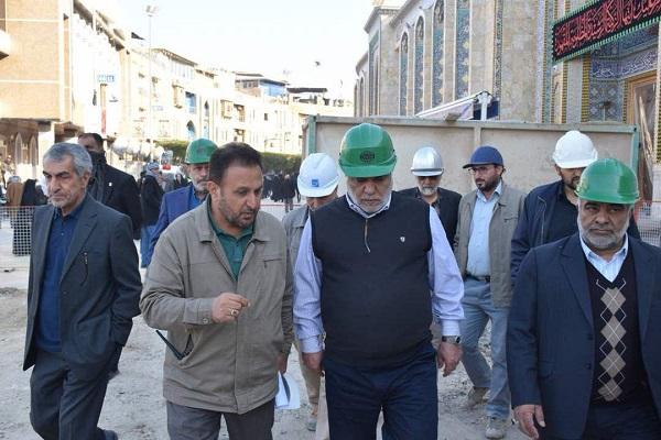 بازدید رئیس ستاد بازسازی عتبات از پیشرفت طرح توسعه حرم امام حسین (ع)