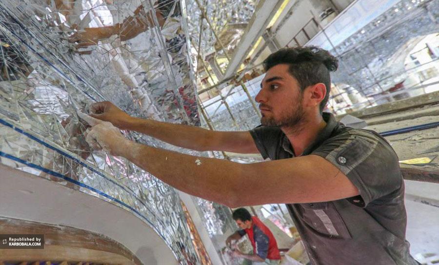 ادامه پروژه ساخت صحن حضرت زهرا (س) در حرم امام علی (ع)