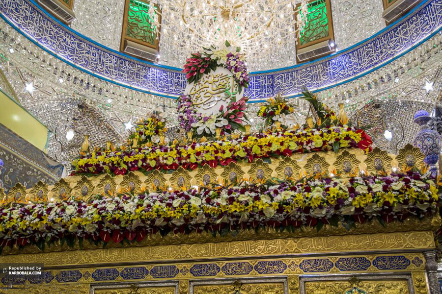 گل آرایی بارگاه ملکوتی حضرت ابوالفضل (ع) + تصاویر