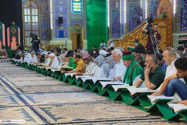 استقبال گسترده از ختم قرآن در کربلا
