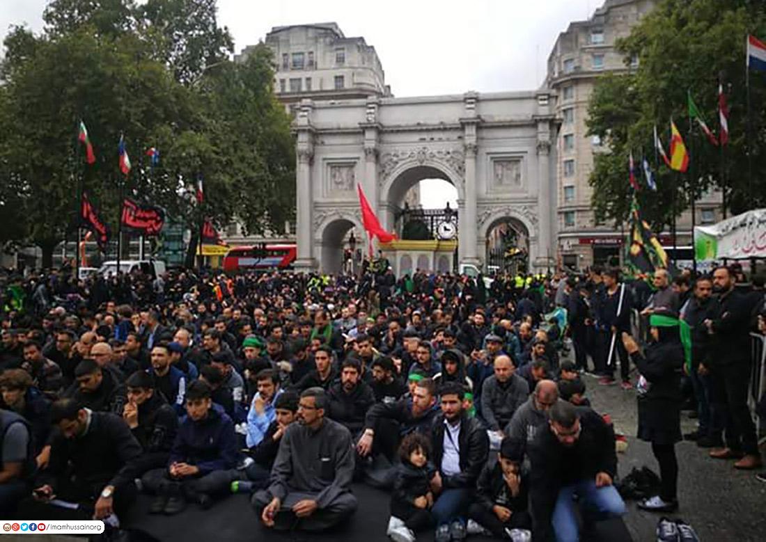 برگزاری مراسم عاشورا در پایتخت انگلستان