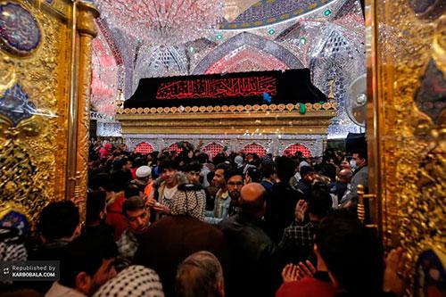 تصاویری از حال و هوای نجف اشرف در سالروز شهادت حصرت فاطمه(س)